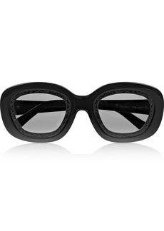 Karen Walker Underground Filigree round-frame acetate sunglasses
