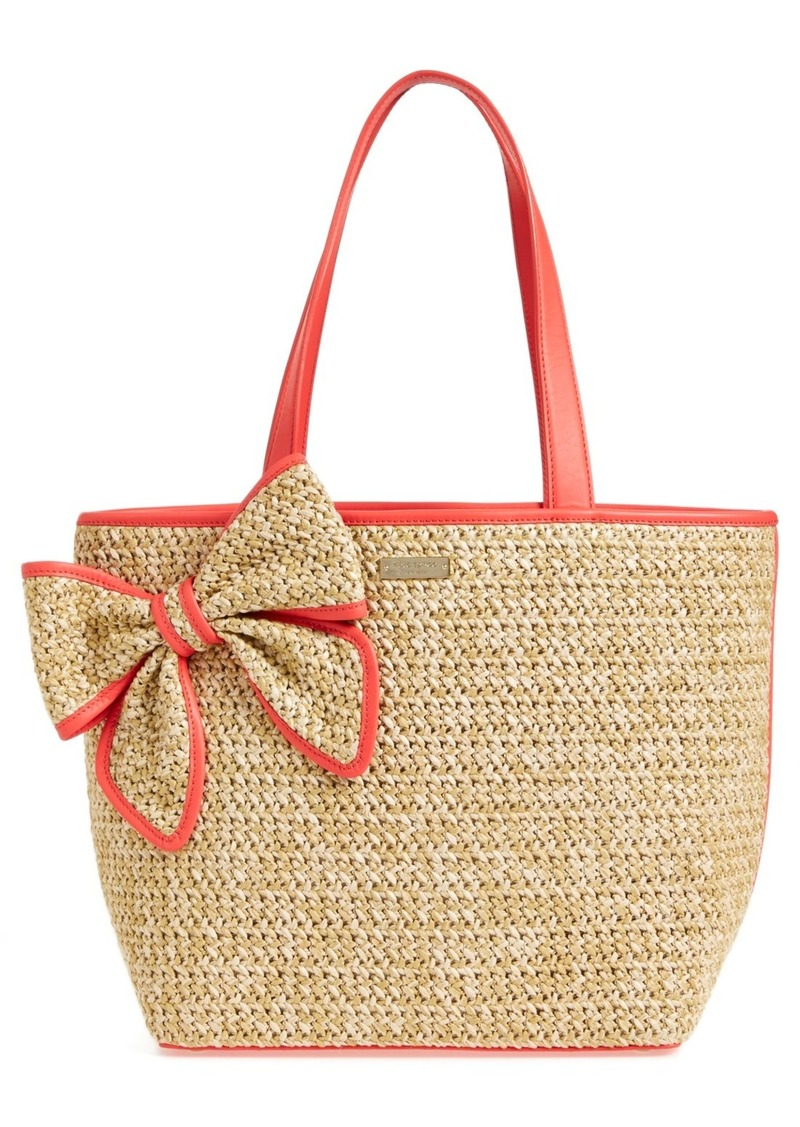 Kate Spade belle Place Straw Tote Handbags