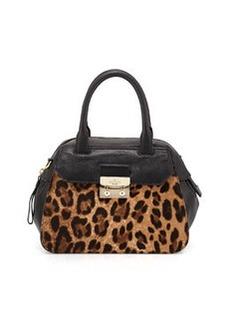 kate spade new york alice street adriana colorblock satchel bag, pebble/black