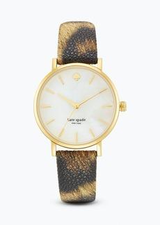 kate spade new york Animal Print Metro Watch, 34mm