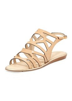 kate spade new york aster leather cutout sandal, natural