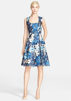kate spade new york autumn floral print fit & flare dress