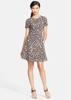 kate spade new york 'autumn leopard' fit & flare dress