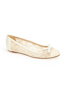 kate spade new york 'banner' lace & leather flat