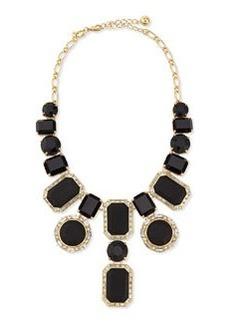 kate spade new york black jewel statement necklace