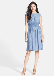 kate spade new york 'blair' chambray fit & flare dress