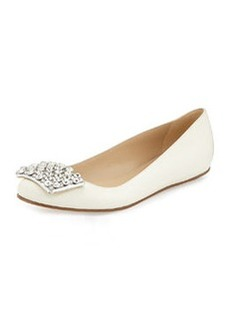 kate spade new york brilliant jewel-toe ballerina flat, cream