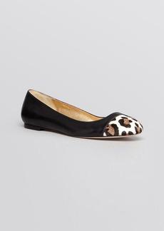 kate spade new york Cap Toe Ballet Flats - Jazz Leopard