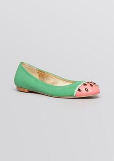 kate spade new york Cap Toe Ballet Flats - Watermelon