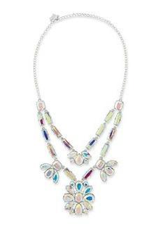 kate spade new york capital glow silvertone necklace