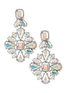 kate spade new york capital glow silvertone statement earrings