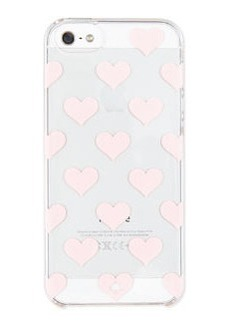 kate spade new york clear hearts iPhone 5 case