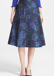 kate spade new york 'clip dot' floral a-line skirt