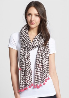kate spade new york 'coffee bean' scarf