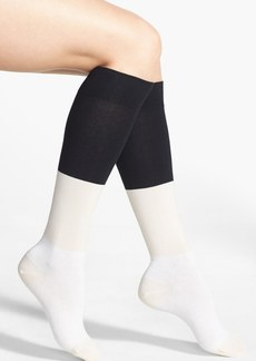 kate spade new york colorblock knee high socks