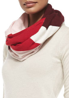 kate spade new york colorblock knit infinity scarf