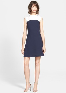 kate spade new york colorblock sponge crepe a-line dress
