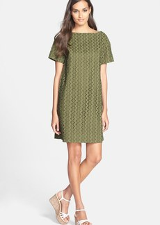 kate spade new york cotton eyelet shift dress