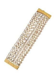 kate spade new york crystal multi-strand bracelet