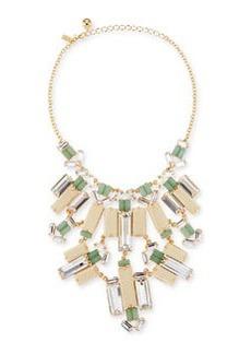 kate spade new york Crystal/Wood Statement Bib Necklace (Stylist Pick!)