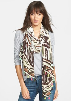 kate spade new york 'cuban landscape' scarf