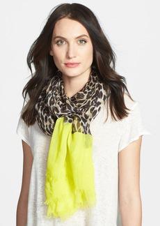 kate spade new york 'cuban leopard' scarf