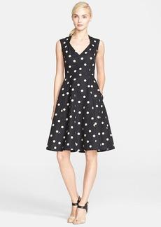 kate spade new york 'deco dot' fit & flare dress