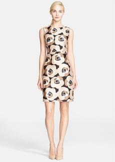 kate spade new york 'della - deco rose' print sheath dress