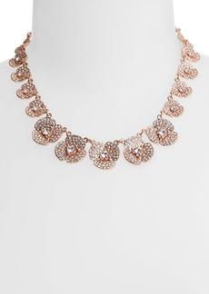 kate spade new york 'disco pansy' pavé flower collar necklace