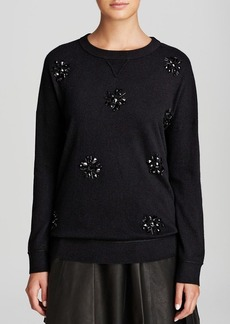 kate spade new york Embellished Front Sweater