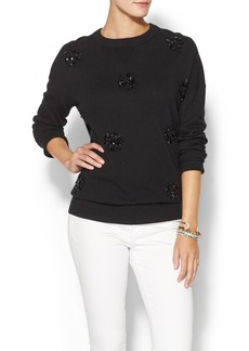 Kate Spade New York Embellished Slouchy Fluffy Wool Sweater