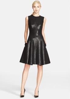 kate spade new york 'emma' metallic jacquard fit & flare dress