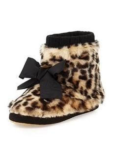 kate spade new york Fabian Faux-Fur Bootie Slipper, Leopard