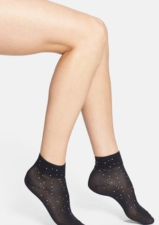 kate spade new york 'falling rhinestones' ankle socks