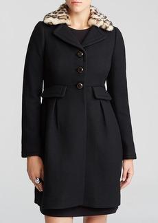 kate spade new york Faux Fur Collar Coat