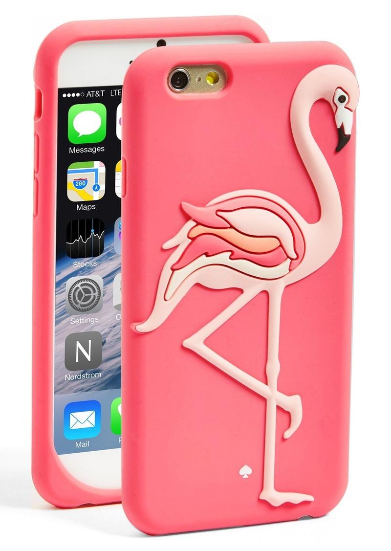 Kate Spade kate spade new york u0026#39;flamingou0026#39; iPhone 6 silicone case ...