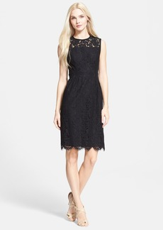 kate spade new york floral lace sheath dress