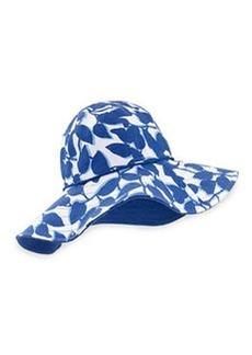 kate spade new york floral-print reversible garden hat, hyacinth
