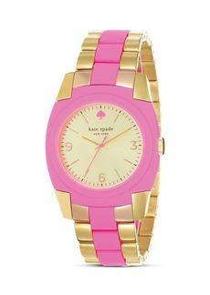kate spade new york Gold Bazooka Pink Skyline Watch, 36mm