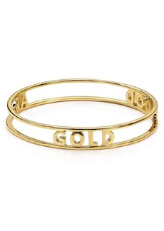 kate spade new york Good as Gold Words of Wisdom Bangle