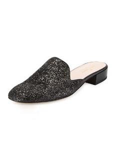 kate spade new york gowan glitter mule slide, black