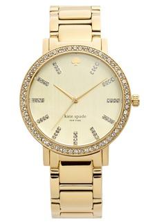 kate spade new york 'gramercy grand' pavé bezel bracelet watch, 38mm