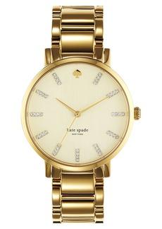 kate spade new york 'gramercy' round bracelet watch, 38mm