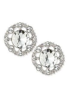 kate spade new york grand debut stud earrings, clear