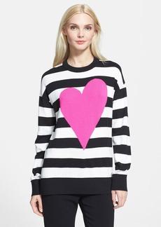 kate spade new york heart stripe intarsia knit sweater