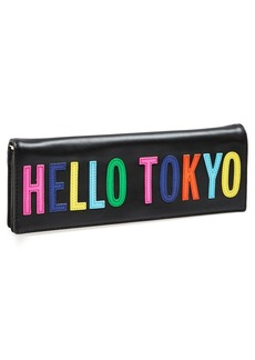 kate spade new york 'hello tokyo' leather clutch