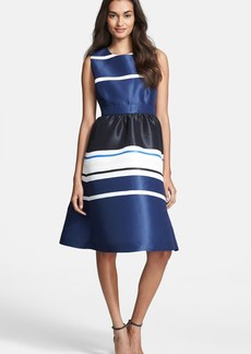 kate spade new york 'holiday stripe' fit & flare dress