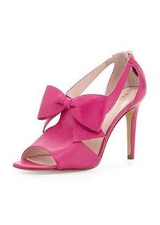 kate spade new york imelda peep-toe bow sandal, rio pink