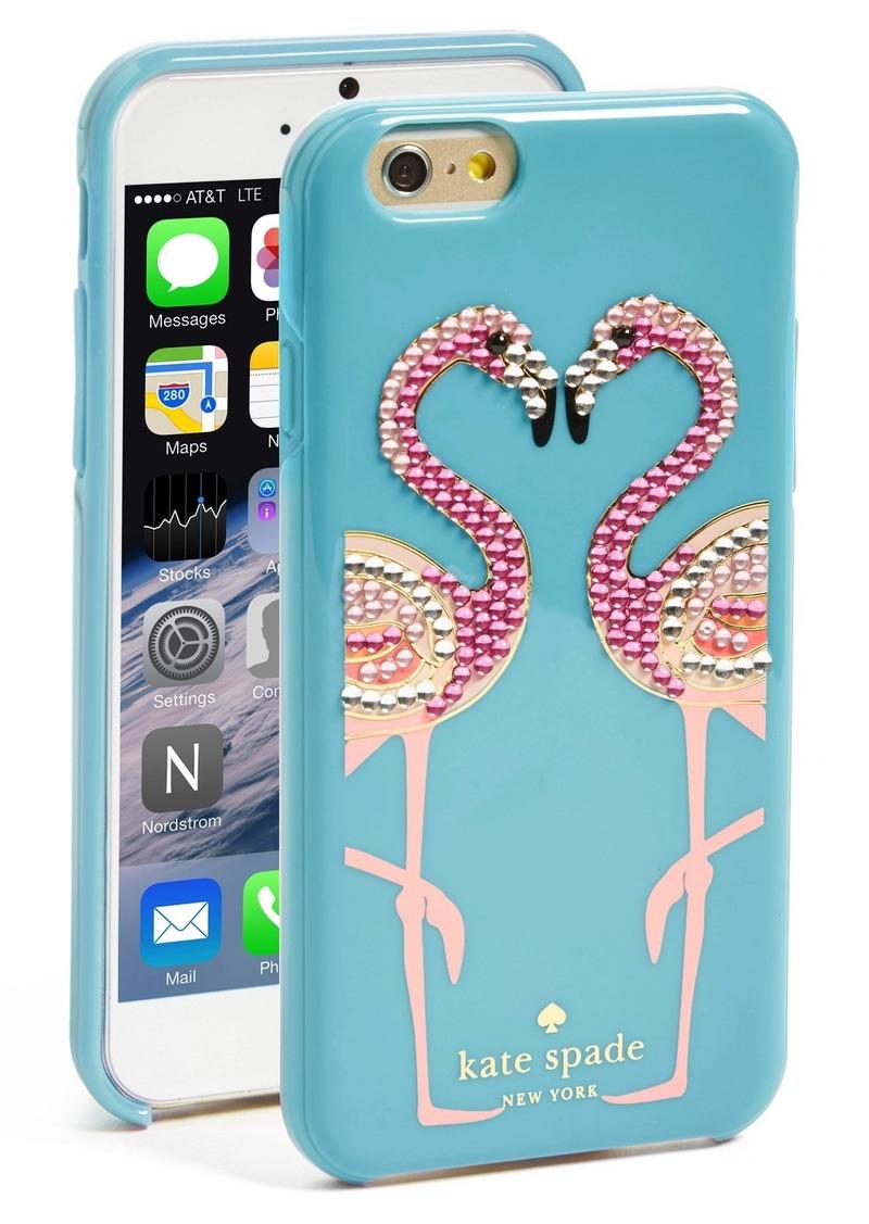 Case Design kate spade phone case : Kate Spade kate spade new york u0026#39;jeweled flamingou0026#39; iPhone 6 case : Misc ...