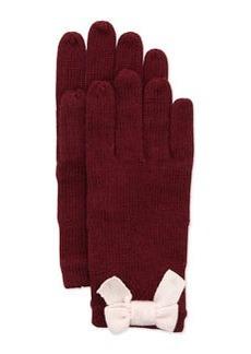 kate spade new york knit bow mohair-blend gloves